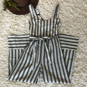 NWT Couture Olive/Ivory Jumpsuit